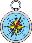 Compass freehand drawings