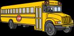 School Bus freehand drawings