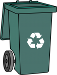 Recycle bin freehand drawings