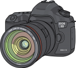 Camera Dslr freehand drawings