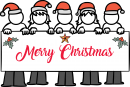 Merry Christmas freehand drawings