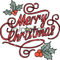 Merry ChristmasFreehand Image