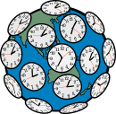 Time zones freehand drawings
