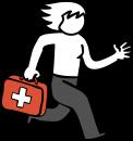 Emergency freehand drawings