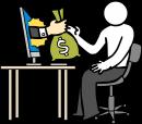 Salary freehand drawings