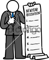 New Year ResolutionsFreehand Image