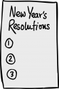 New Year Resolutions freehand drawings