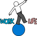 Work Life Balance freehand drawings