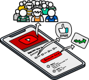 Youtube Marketing freehand drawings