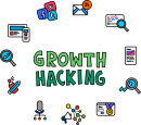Growth Hacking freehand drawings