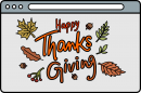 Thanksgiving freehand drawings
