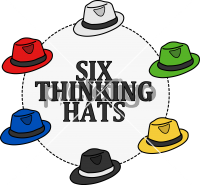 Six thinking hatsFreehand Image