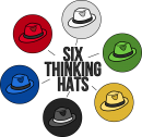 Six thinking hats freehand drawings