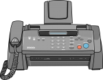 Fax Machine freehand drawings