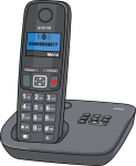 Cordless Phone freehand drawings