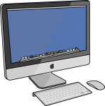 Apple Desktop Computer freehand drawings