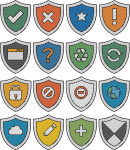 Shield freehand drawings
