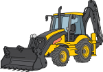 Bulldozer freehand drawings