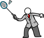 Badminton freehand drawings