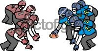 American FootballFreehand Image