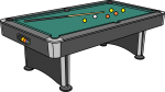 Pool Table freehand drawings