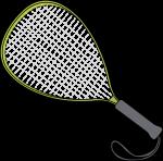 Racketball Racket freehand drawings