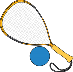 Racketball Racket freehand drawings