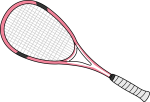 Squash Rackets freehand drawings