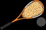 Squash Rackets freehand drawings