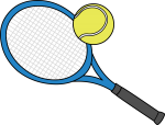 Tennis Rackets freehand drawings