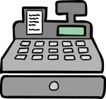 Cash Register freehand drawings