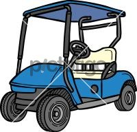 Golf CartFreehand Image