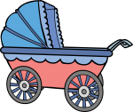 Baby Carriage freehand drawings