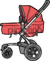 Baby CarriageFreehand Image