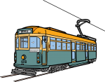Tram freehand drawings