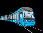 Tram freehand drawings