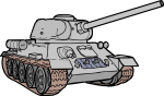 Tank freehand drawings