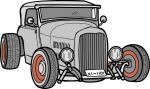 Hot Rod freehand drawings