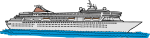Cruise Ship freehand drawings