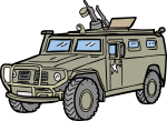Armored Car freehand drawings