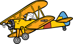 Biplane freehand drawings