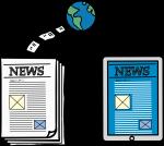 Digital News freehand drawings