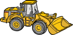 Caterpillar Tractor freehand drawings