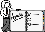Agenda freehand drawings