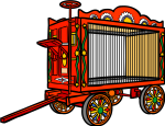 Circus Wagon freehand drawings