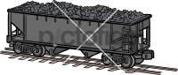 Coal CarFreehand Image