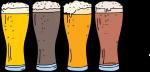 Beer freehand drawings