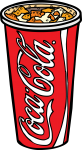 Coke Glass freehand drawings