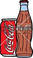Coke Bottle CanFreehand Image