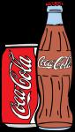 Coke Bottle Can freehand drawings